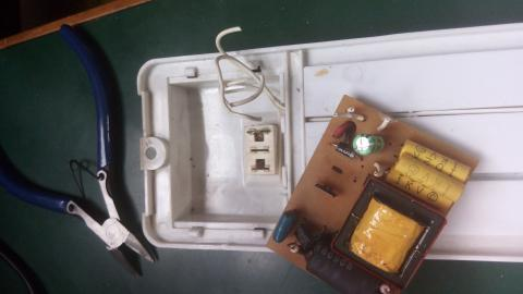 Photo of the components enclosure
