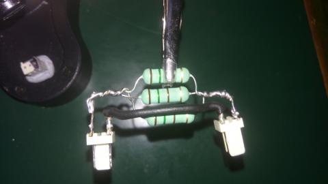 Photo of the resistor arrangement