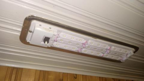 Photo of the light fitting in place